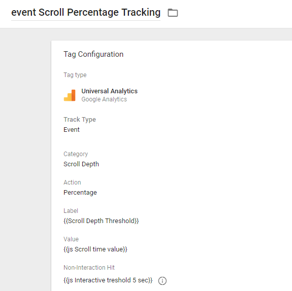 GTM scroll tracking event tag